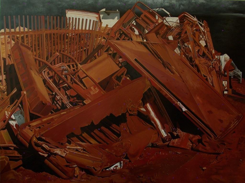 Landscape in Red Dirt - Demolition X.